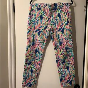 Lilly Pulitzer Palm Reader Kelly Ankle Pants